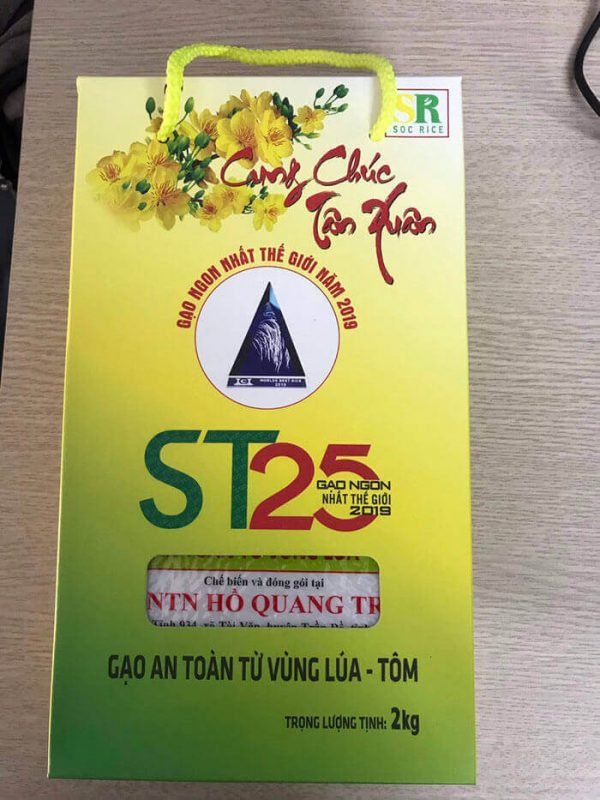 Gạo ST25 hộp giấy
